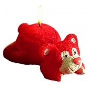 Pl Świeca Miś Walentynkowy Leżący