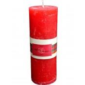 Pl Czerwony Świeca Elegance Świąt. Walec Duży