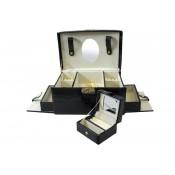 Szkatułka Na Biżuterię Czarna 14,5X25X16 (8)