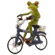 Figurka  Żaba Na Rowerze