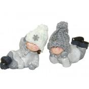 Figurki Dzieci W Czapeczkach Z Włóczki