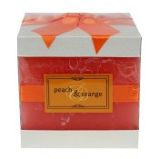 Pl Świeca Elegance Kostka Peach&Orange