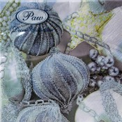 Pl Serwetki Frosted Baubles