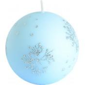 Pl Błękit Świeca Płatek Śniegu Kula